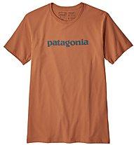 Patagonia Text Logo Organic - T-Shirt Klettern - Herren, Orange