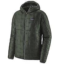 Patagonia Micro Puff - giacca con cappuccio - uomo, Dark Green/Grey