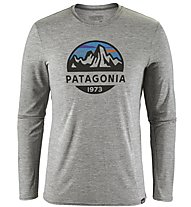 Patagonia Ms Capilene Daily Long Sleeved Herren Wandershirt langärmelig, Light Grey
