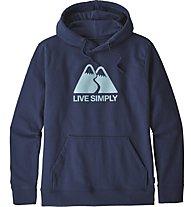 Patagonia Ms Live Simply Winding - felpa con cappuccio - uomo, Blue