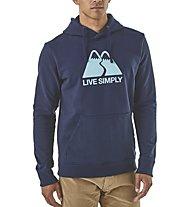 Patagonia MS Live Simply Winding - Kapuzenpullover - Herren, Blue