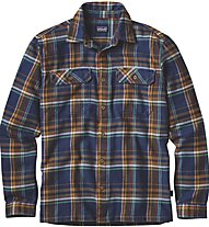Patagonia Ms Lon-Sleeved Shirt Camicia manica lunga, Blue