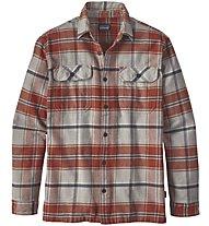 Patagonia M's Long-Sleeved Shirt Herrenhemd, Brown/Red