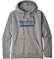Patagonia Ms P-6 Logo Uprisal - felpa con cappuccio - uomo, Grey