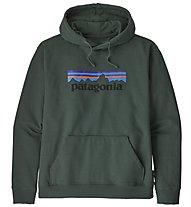 Patagonia Ms P-6 Logo Uprisal - felpa con cappuccio - uomo, Dark Green