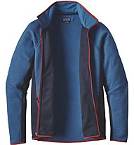 Patagonia Ms Performance Better Sw.jkt Giacca in pile trekking, Blue