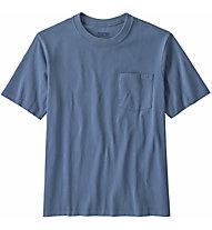 Patagonia Organic Cotton Midweight Pocket - T-shirt - Herren, Blue