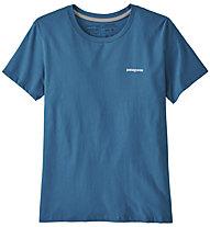 Patagonia P-6 Logo Organic Crew - T-shirt - donna, Light Blue