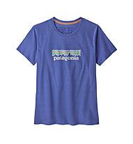 Patagonia Pastel P-6 Logo Organic Crew - T-shirt - donna, Dark Blue