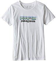 Patagonia Pastel P-6 Logo Organic Crew - T-shirt trekking - donna, White