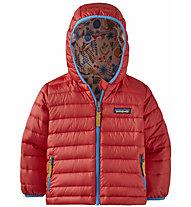 Patagonia Reversible Down Sweater Hoody - giacca in piuma - bambino, Red/Rose