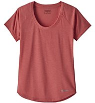 Patagonia Nine - T-shirt trekking - donna, Red