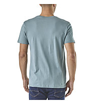 Patagonia Text Logo Organic - T-Shirt Trekking - Herren, Light Blue