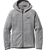 Patagonia W's Better Sweater Hoody Giacca in pile Donna, Grey
