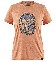 Patagonia Cap Cool Daily Graphic - t-shirt trekking - donna, Pink