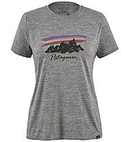 Patagonia Cap Cool Daily Graphic - t-shirt trekking - donna, Grey