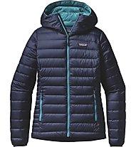 Patagonia W's Down Sweater Hoody Giacca piuma donna, Blue
