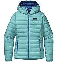 Patagonia W's Down Sweater Hoody Giacca piuma donna, Azure