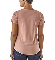 Patagonia W's eat local rain can organic - T-shirt - donna, Rose