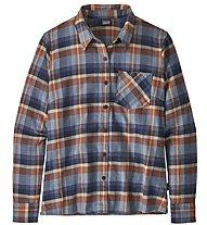 Patagonia Heywood Flannel - camicia a maniche lunghe - donna, Blue