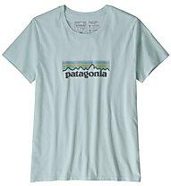 Patagonia Oastek O-6 Logo Organic - T-Shirt Klettern - Damen, Light Blue