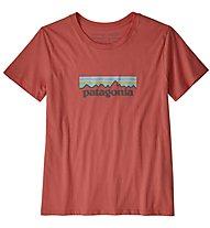 Patagonia Oastek O-6 Logo Organic - T-Shirt Klettern - Damen, Red
