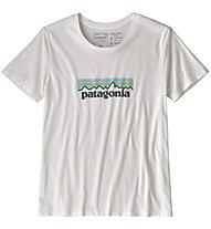 Patagonia Pastel P-6 Logo Organic Crew - T-shirt - donna, White