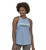 Patagonia W's Pastel P-6 Logo Org Tank - Top - Damen , Light Blue