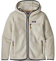Patagonia Retro Pile Hoody - giacca in pile con cappuccio - donna, White