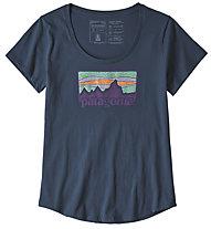 Patagonia Solar '73 Organic - T-Shirt Bergsport - Damen, Blue