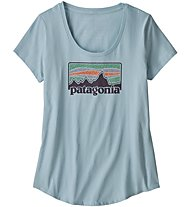 Patagonia Solar '73 Organic - T-Shirt Bergsport - Damen, Light Blue