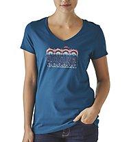 Patagonia Ws Femme Fitz Roy Damen T-Shirt kurzärmelig, Blue