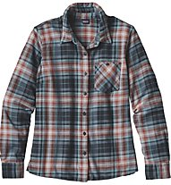 Patagonia Ws Heywood Flannel Shirt Camicia Maniche Lunghe Donna, Brown