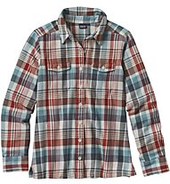 Patagonia Ws Long -Sleved shirt Camicia Manica Lunga, Water/Red