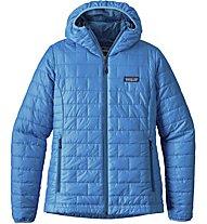 Patagonia Ws Nano Puff Hoody Damen Kapuzenjacke, Light Blue