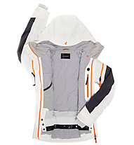 Peak Performance Giacca sci W Heli Chilkat J, Offwhite/Coal/Monk Orange