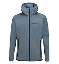 Peak Performance Goldeck Zip Hood - felpa con zip - uomo, Blue