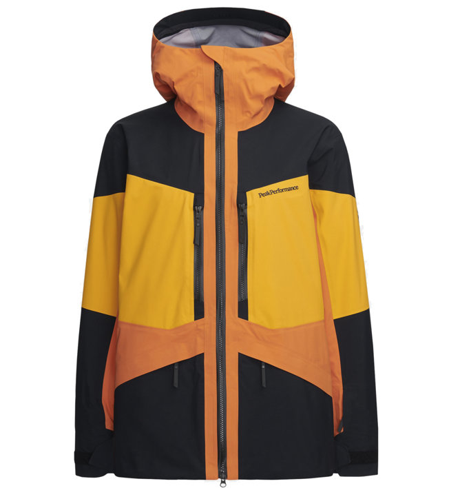 Peak Performance Gravity - Skijacke mit Kapuze- Herren, Orange/Black