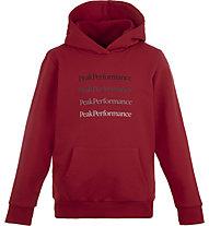Peak Performance Ground Hoodie - Kapuzenpullover - Kinder, Red