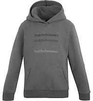 Peak Performance Ground Hoodie - felpa con cappuccio - bambino, Grey