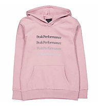 Peak Performance Ground Hoodie - felpa con cappuccio - bambino, Pink