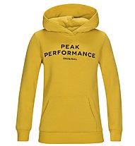 Peak Performance Original Hood - felpa con cappuccio - bambino, Yellow