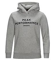 Peak Performance Original Hood - Fleecepullover mit Kapuze - Kinder, Grey
