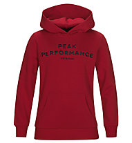 Peak Performance Original Hood - felpa con cappuccio - bambino, Red