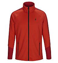 Peak Performance Rider Zip - giacca in pile - uomo, Red