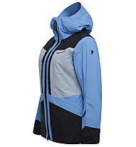 Peak Performance W Gravity 2L - giacca da sci - donna, Black/Light Blue