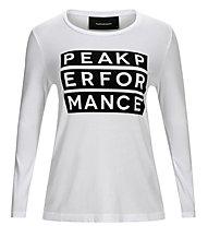 Peak Performance W SW Longsleeve - maglia a manica lunga - donna, White