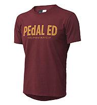 Pedal Ed Logo Tee -  T Shirt - Herren, Bordeaux