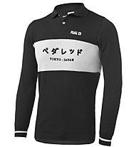 Pedal Ed Tokyo Riding - polo bici - uomo, Black