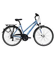 Pegasus Piazza Trapez 28, 21 rapporti (2017) bici trekking, bicicletta città donna, Light Blue